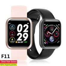 100% الأصلي جديد F11 ساعة ذكية مراقب معدل ضربات القلب ضغط الدم SpO2 مراقب IP68 مقاوم للماء شاشة كاملة تعمل باللمس ساعة PK F10