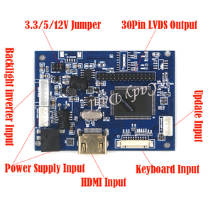 """Image 2 - HDMI LVDS LCD Controller Board+Backlight Inverter+30Pins Cable for Ipad 2 1024X768 9.7"""" LP097X02 SLQ1 SLQE SLN1 SLP1 LCD Panel"""