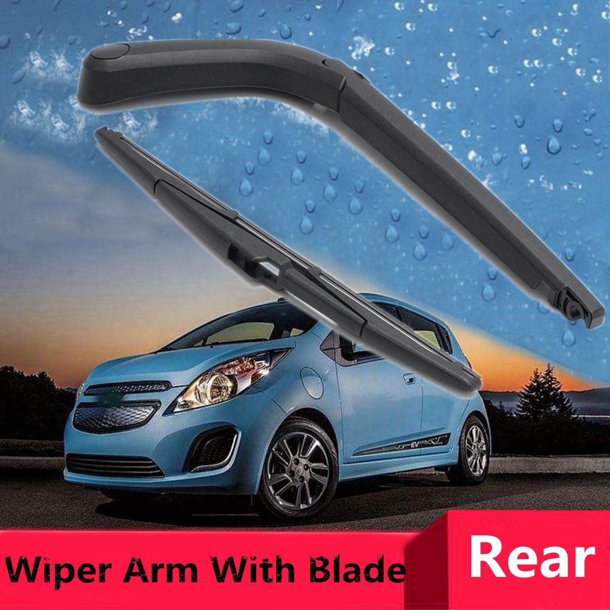 Rear Wiper Blade Arm Set Fit For Chevrolet Spark 2013-2016 Back Windshield