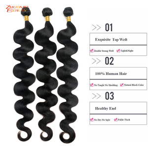 Image 3 - Zhuomei יופי ברזילאי שיער גוף גל 3 חבילות עם סגירת P שיער טבעי חבילות עם סגירת 4*4 סגירת תחרה רמי 8 36inch
