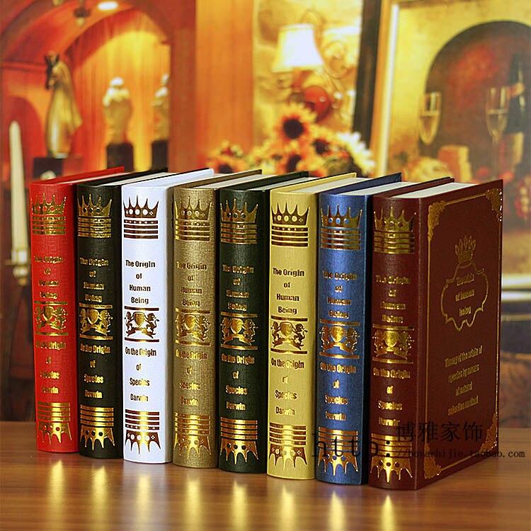 Home Ornament Prop Books Decoration Book European Style Fake Book Simulation Book 0611