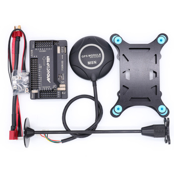 APM2.8 APM 2.8 flight controller+M8N GPS built-in compass +power module+gps stand+shock absorber for RC Quadcopter Multicopter