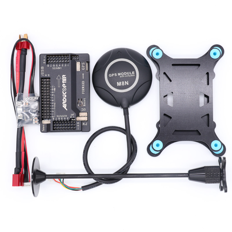 APM2.8 <font><b>APM</b></font> <font><b>2.8</b></font> flight controller+M8N GPS built-in compass +power module+gps stand+shock absorber for RC Quadcopter Multicopter image