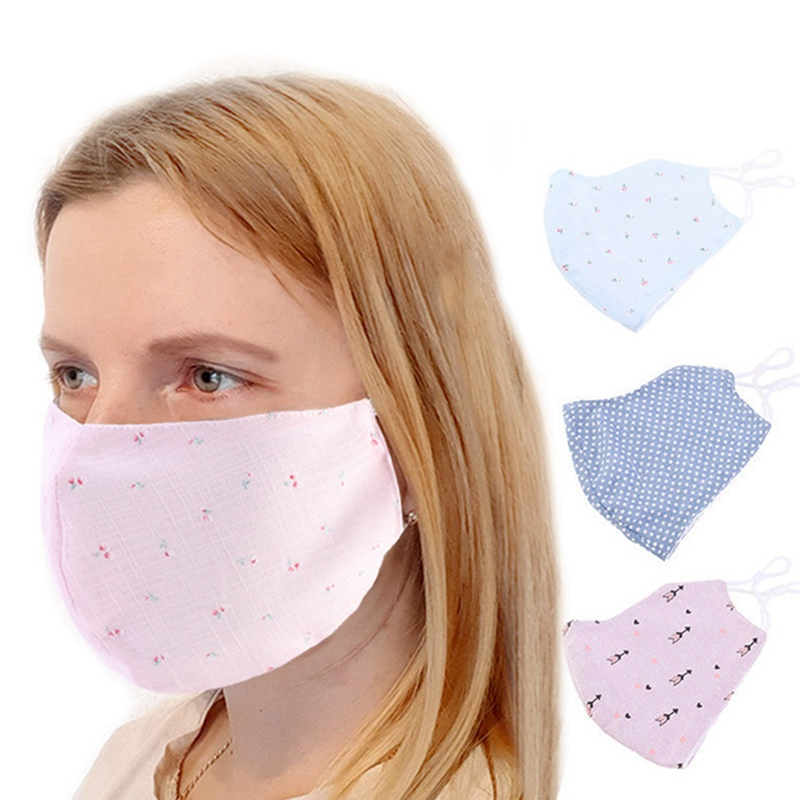 1 PC Ladies Spring Summer Cotton Mouth Mask Dustproof Anti-fog Facial Cover Breathable Face Mask Dropship New Arrival