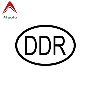 Aliauto Words Car Sticker DDR Germany Country Code Oval Decor Waterproof Vinyl Decal for Audi C5 Bmw E92 Chevrolet Polo,13cm*9cm image