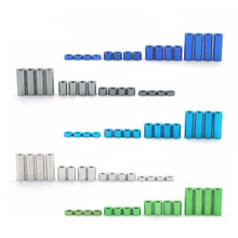 16Pcs Aluminum Spacers 1.5mm 3mm 6mm 12mm Screw/Guide Roller Standoffs Spare Parts For Tamiya Mini 4WD Car Models