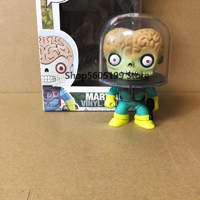 Marsattacks marciano #01 pop com caixa de vinil figuras ação brinquedos coleção modelo brinquedos para crianças presente
