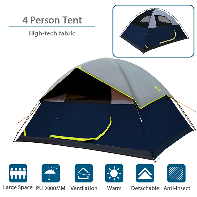 GEERTOP Darkroom 4 Person Backpacking Tent 2