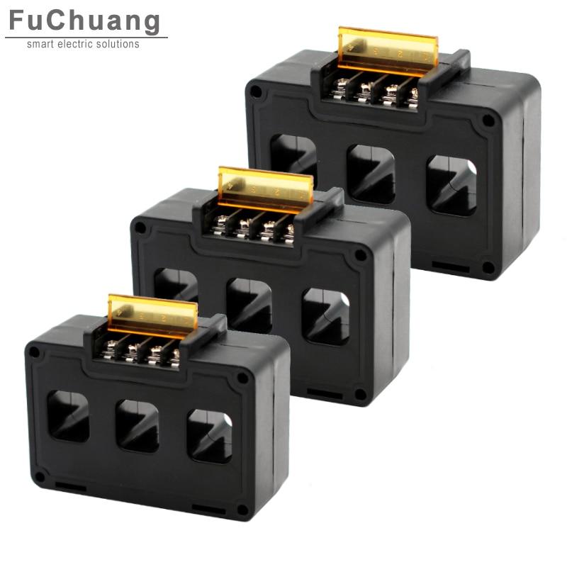 CT5 Трехфазная система трансформатор тока 50/5A 100/5A 200/5A 300/5A 400/5A 600/5A 800/5A 3 в 1 датчик переменного тока CT работает с CM1 в формованном корпусе