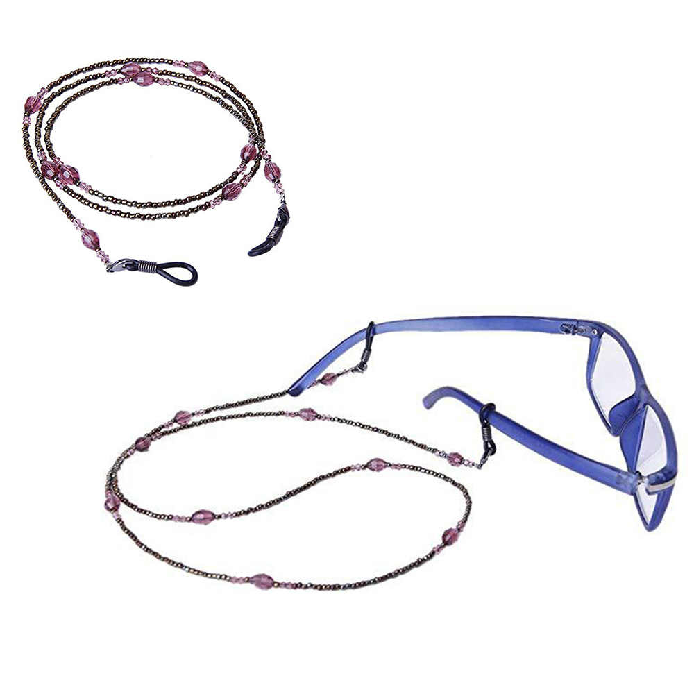 Fashion Unisex Purple Sunglasses Reading Glasses Rope Chain Glasses Anti-skid Chains Eyewears Cord Holder Neck Strap Rope