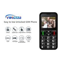 YINGTAI Mobile Phone Russian keyboard 2.2inch FM GSM Dual SIM louder speaker Feature