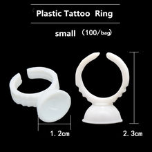 Anillos De pegamento para Microblading, soporte De Tinta De Tatuaje para maquillaje semipermanente, 100 unidades, S/M/L
