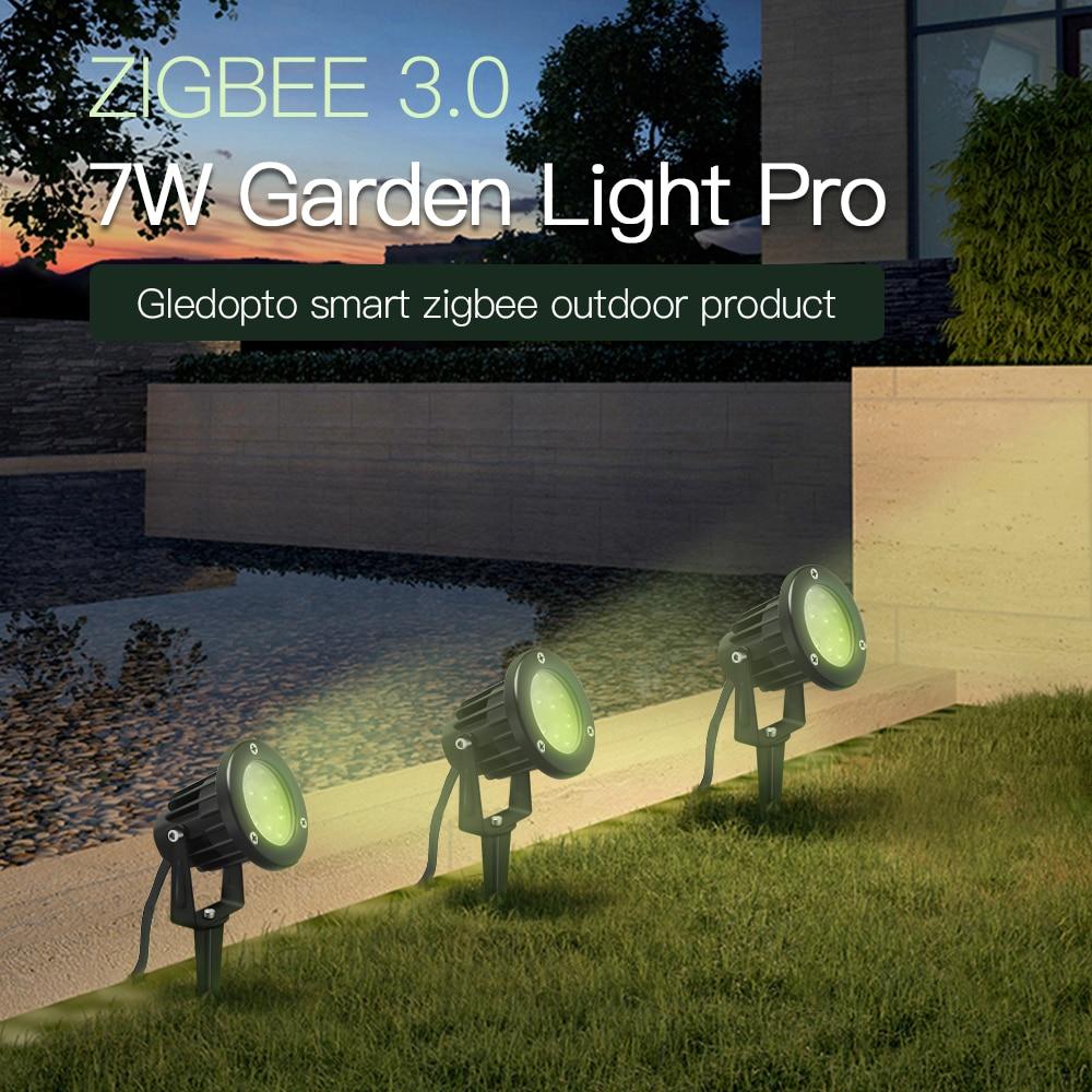 zigbee3.0 rgbcct gramado lâmpada decoração do jardim