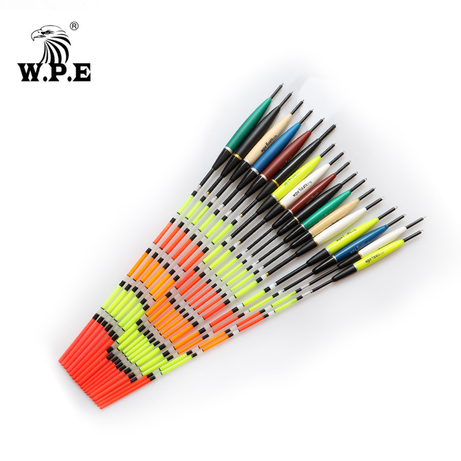 W.P.E Brand 5pc/lot Fishing Float Barguzinsky Fir Floats Size 2-6g For Carp Fishing Buoy Bobber Fishing Light Floats Multicolor