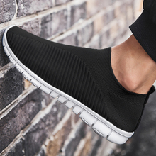 Breathable Sneakers Shoes Flats Large-Sized Lightweight Slip-On Men Summer
