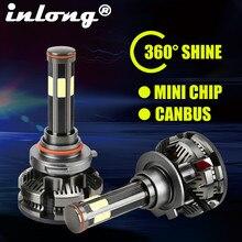 Canbus phares antibrouillards, sans erreur, H4 nouveauté H11 Led H8 HB3 ampoules de phares LED HB4 LED lampe 9005 K 16000LM, 9006 6500, Auto Led