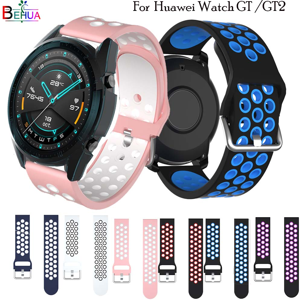 Sport 22MM For Huawei Watch GT GT2 Strap Smart Watch Replacement Watchband Wristband For HUAWEI Honor Magic Bracelet Accessories