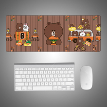 Brown Bear Cartoon Gaming Mouse Pad Large Mouse Pad Gamer Big Mouse Mat Computer Mouse pad XL Mouse Pad Keyboard Desk Mat цена и фото
