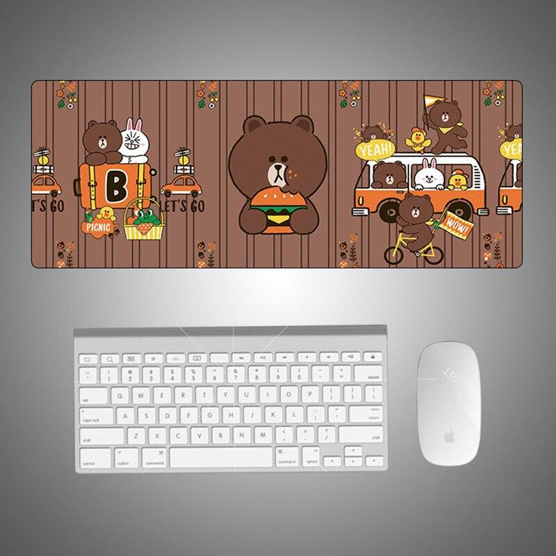 Brown Bear Cartoon Gaming Mouse Pad Large Mouse Pad Gamer Big Mouse Mat Computer Mouse pad XL Mouse Pad Keyboard Desk Mat