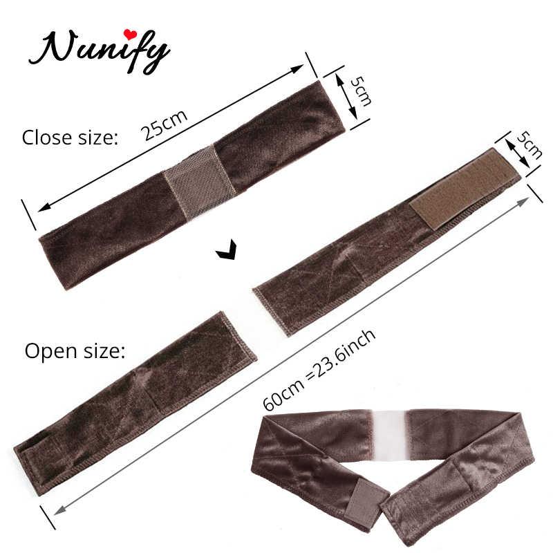 Nunify antiderrapante macio veludo feminino laço peruca apertos bandana feminino velvet peruca acessórios aperto cachecol bandana ajustável