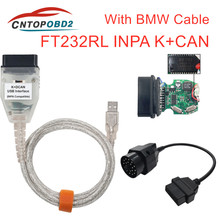 Switch DCAN Inpa-K Ft232rl-Chip Usb-Interface K-Can-Obd2-Diagnostic-Cable for BMW 20PIN