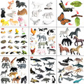 4-12pcs Mini Animal Model Simulation Dinosaurs Marine Animals Wildlife Model Animals World Model Educational Toys For Children