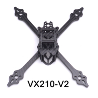 VX210-V2 VX210 210mm Carbon Fiber Stretch X 210mm MINI Rahmen Quadcopter Mini Vier Achsen Multi FPV Innen Racing drone