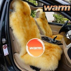 Для BMW Toyota Honda, плюшевая овчина, чехол для автомобильного сиденья, меховая защита, чехлы для сидений для автомобилей, автомобильные товары дл...