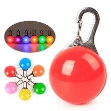Lumière de porte clés de collier coloré de lumière de nuit de sécurité de Clip LED avec le collier de chien de chat de mousqueton mène la lampe dintense luminosité de lumières