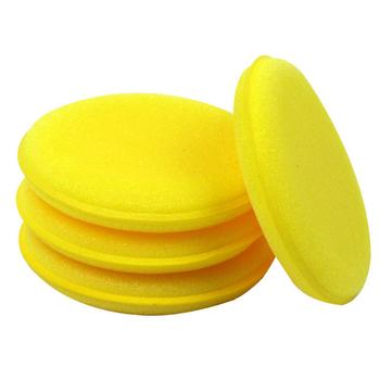 12 sztuk akcesoria samochodowe narzędzia do mycia miękka mikrofibra aplikator wosku Pad gąbka do mycia do nakładania i usuwania wosku Auto Care tanie i dobre opinie JOSHNESE circular 10 * 1 6cm Sponge