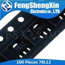 [ Free Shipping ]100PC/LOT  78L12 SOT89  12V   Three-terminal voltage regulator tube 100pcs 78l09 sot89 new and original free shipping
