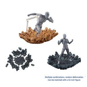 Image 2 - Modello Creativo Esplosione Crepa Effetto Impatto Per Kamen Rider Figma SHF Action Figure Accessori
