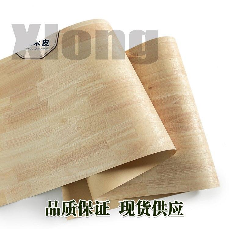 L:2.5Meters Width:600mm Thickness:0.25mm Natural Rubber Wood Veneer Imported Rubber Wood Solid Wood Rubber Wood Veneer