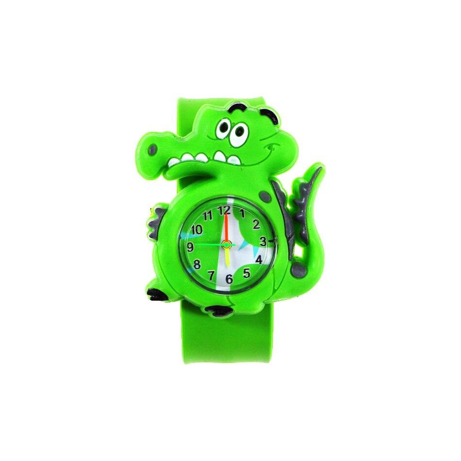 Boys' Dinosaur Watches 3D Animal Cartoon Clock For Kids Toys Rubber Watch Belt Quartz Watches