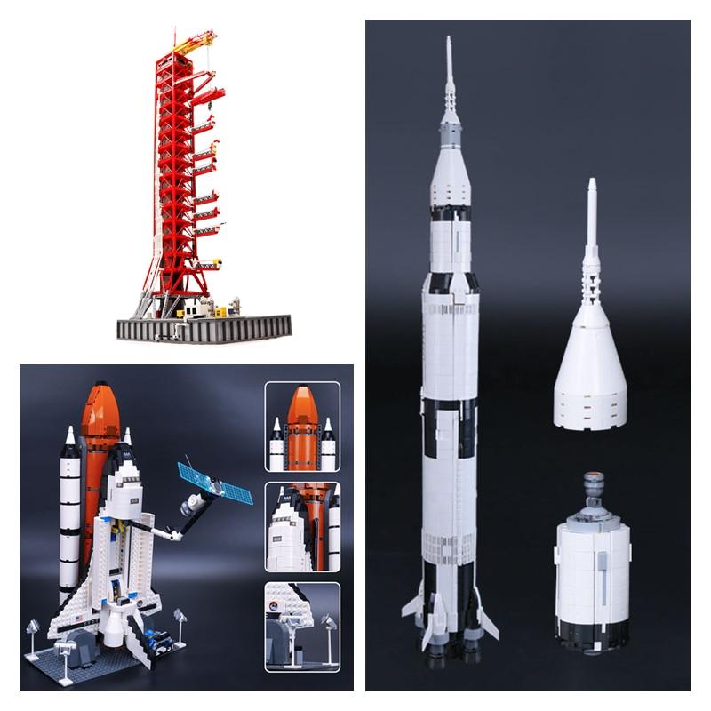 >DHL 37003 16014 J79002 Apollo saturn V Launch Umbilical Tower Space Shuttle Expedition Toys <font><b>Model</b></font> <font><b>Building</b></font> <font><b>Blocks</b></font> 21309 10231