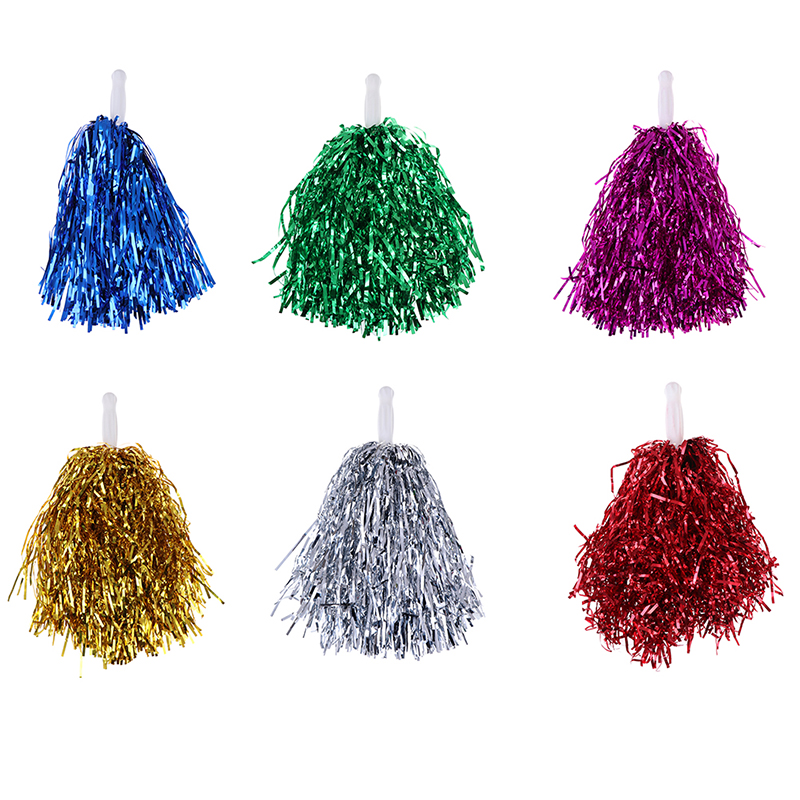 1PC 20CM Cheer Dance Sport Competition Cheerleading Pom Poms Flower Ball For For Football Basketball Match Pompon Children Use