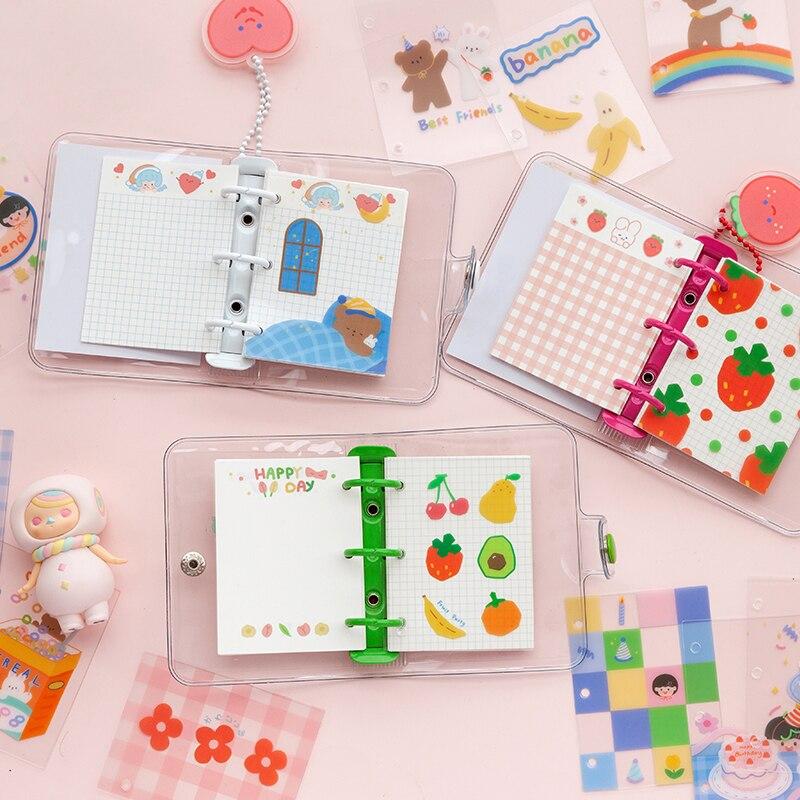 Милый мини-органайзер для ноутбука с 3 отверстиями, органайзер, дневник, кольцо для записей, школьные принадлежности Kawaii