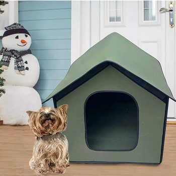 Plush Dogs House Comfortable Kennel Dogs Cat Litter Sleeping Bed Dog Bed Mats Winter Warm Pet House Portable Outdoor Pet Tent image