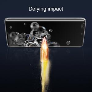 Image 5 - Nillkin 3D CP + מקס מזג זכוכית עבור Samsung Galaxy S20 אולטרה בתוספת מלא מסך דבק כיסוי מעוקל מגן oleophobic