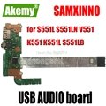 Original für For For For Asus S551L S551LN V551 K551 K551L S551LB USB AUDIO board S551LB S551LN IO BORD