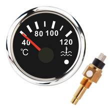 52mm Wasser Temp Meter 40-120 ℃ Mit M16 * 1,5 Wasser Temperatur Sensor Sender Wasser Temp Gauge anzeige Für Auto Boot Motorrad