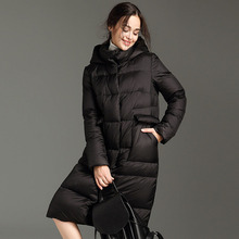 Winter 20119 New Womens Army Green Cotton Padded Jackets Oversize Loose Hooded Long Parkas Warm Casual Contour Bread