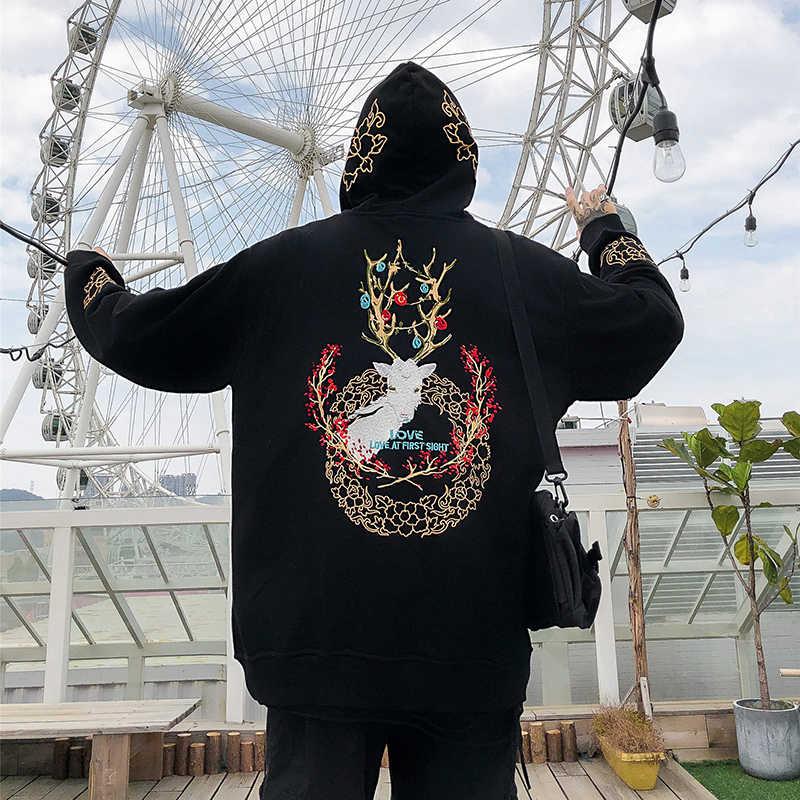 Histrex 100 Cotton Hoa Kỳ EURO Kích Thước Thêu Áo Khoác Hoodie Hip Hop Cổ Áo Khoác Ngoài Mũ Trùm Đầu Thương Hiệu Nam Hoody Người Nam áo Khoác
