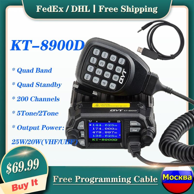 QYT Mobile-Transceiver Car-Radio HAM Dual-Band Amateur VHF/UHF Mini Quad 136-174/400-480mhz
