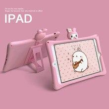 Милый розовый кролик чехол Детский для iPad 9.7 2018 2017 Про 10.5 11 воздуха 2 3 4 Мини 1 5 кремния чехол Фунда