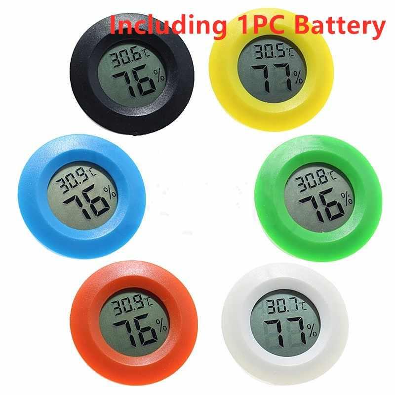 1PC Mini LCD ตู้เย็นเทอร์โมมิเตอร์อุณหภูมิความชื้นความชื้นเครื่องตรวจจับในครัวเรือน Thermograph