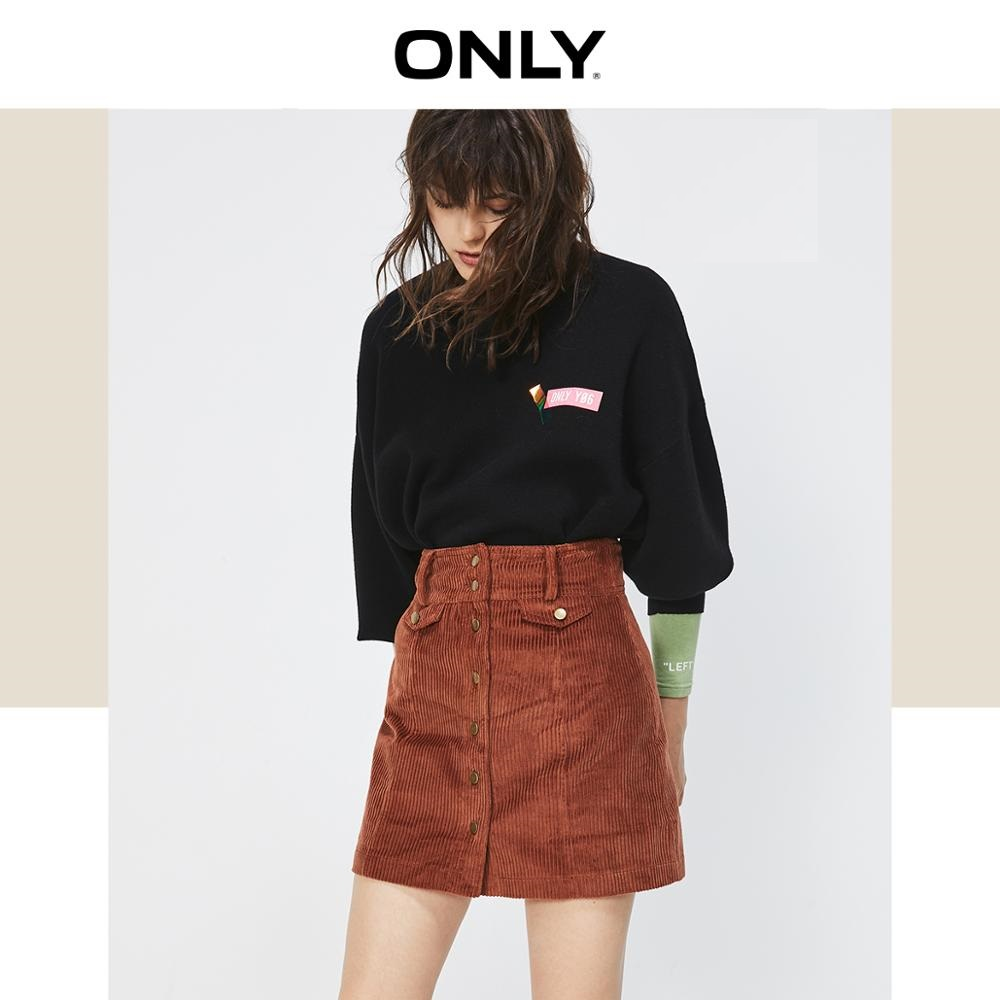 ONLY Women's Corduroy High-rise A-line Skirt | 119316530