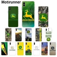 Motirunner Джон Дир логотип прозрачный мягкий чехол для телефона iPhone 11 pro XS MAX 8 7 6 6S Plus X XR 5 5S SE чехол