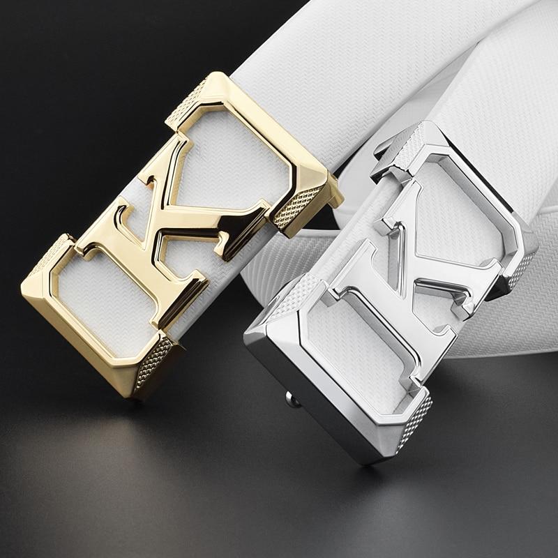 K belts mens High Quality designer fashion popular luxury famous brand Waistband genuine leather slide buckle Waist Strap