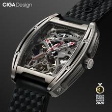 Ciga Ontwerp Z Serie Titanium Case Automatische Mechanische Horloge Silicone Band Uurwerk (Met Een Kalfsleer Band Voor Gratis)